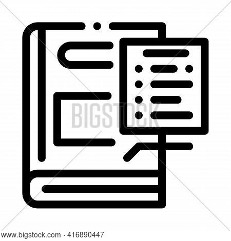Regulations Policy Line Icon Vector. Regulations Policy Sign. Isolated Contour Symbol Black Illustra