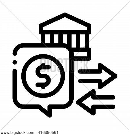 Fiscal Policy Line Icon Vector. Fiscal Policy Sign. Isolated Contour Symbol Black Illustration