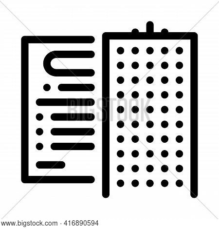Company Policy Line Icon Vector. Company Policy Sign. Isolated Contour Symbol Black Illustration