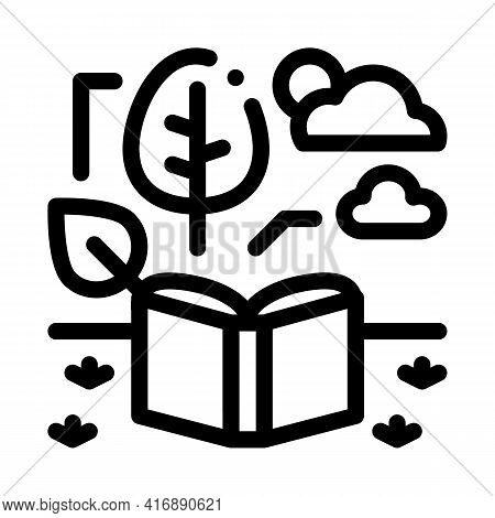 Ecology Researcher Line Icon Vector. Ecology Researcher Sign. Isolated Contour Symbol Black Illustra