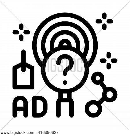 Marketing Researcher Line Icon Vector. Marketing Researcher Sign. Isolated Contour Symbol Black Illu