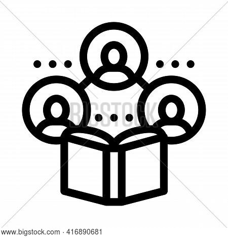 Sociology Researcher Line Icon Vector. Sociology Researcher Sign. Isolated Contour Symbol Black Illu