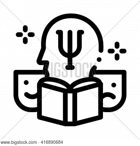 Psychology Researcher Line Icon Vector. Psychology Researcher Sign. Isolated Contour Symbol Black Il