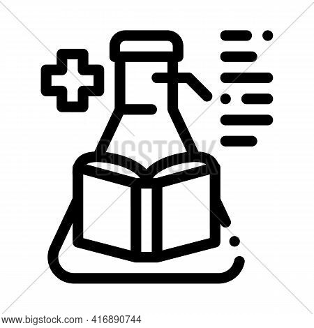 Medicine Researcher Line Icon Vector. Medicine Researcher Sign. Isolated Contour Symbol Black Illust
