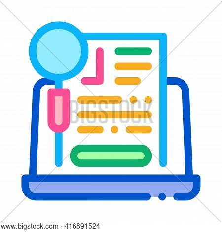Agreement Research Identity Color Icon Vector. Agreement Research Identity Sign. Isolated Symbol Ill