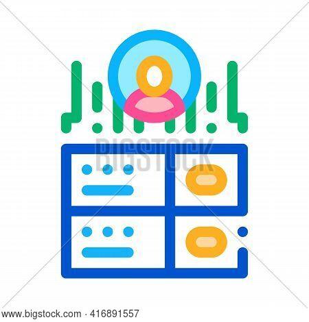 Server Storage Identity Color Icon Vector. Server Storage Identity Sign. Isolated Symbol Illustratio