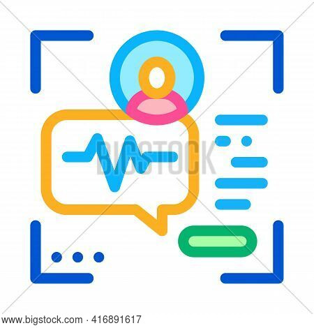 Voice Identity Color Icon Vector. Voice Identity Sign. Isolated Symbol Illustration