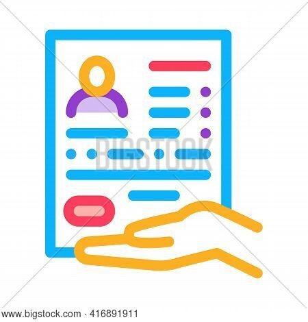 Questionnaire For License Color Icon Vector. Questionnaire For License Sign. Isolated Symbol Illustr