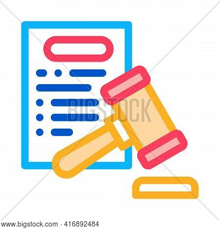 Law Policy Color Icon Vector. Law Policy Sign. Isolated Symbol Illustration