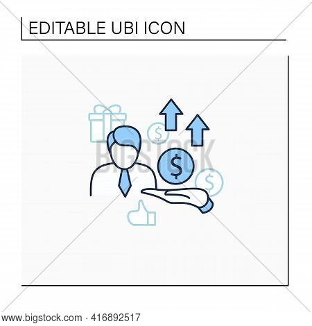 New Investors Line Icon. Creating New Investors Generation. High Quality Worker. Profitable Business