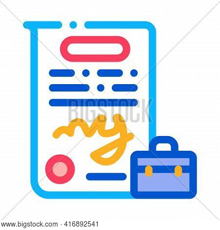 Contract Policy Color Icon Vector. Contract Policy Sign. Isolated Symbol Illustration