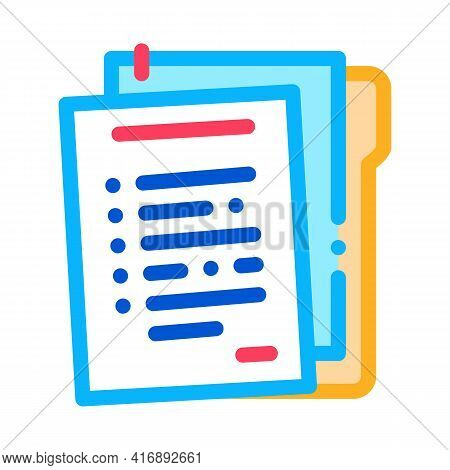 Paper Policy Color Icon Vector. Paper Policy Sign. Isolated Symbol Illustration