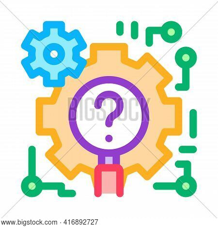 Process Researcher Color Icon Vector. Process Researcher Sign. Isolated Symbol Illustration