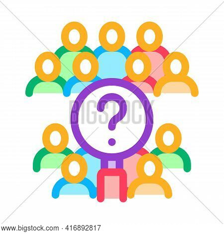 Demography Researcher Color Icon Vector. Demography Researcher Sign. Isolated Symbol Illustration