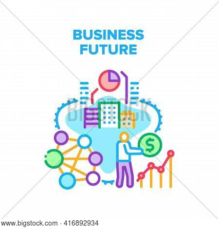 Business Future Vector Icon Concept. Business Future Investment And Calculating Profit, Growth Rate
