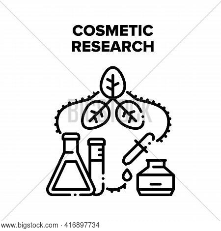 Cosmetic Research Occupation Vector Icon Concept. Cosmetic Research In Chemical Laboratory, Analyzin