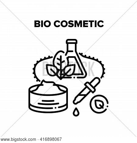 Bio Cosmetic Vector Icon Concept. Natural And Bio Cosmetic Prepared From Ecology Clean Products Ingr