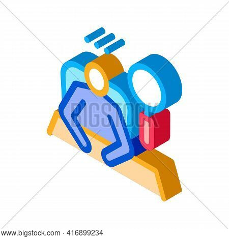 Recruitment And Research New Employee Color Icon Vector. Isometric Recruitment And Research New Empl
