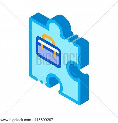 Business Case Administrator Color Icon Vector. Isometric Business Case Administrator Sign. Color Iso
