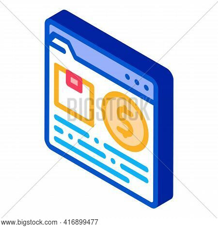 Purchases Goods Color Icon Vector. Isometric Purchases Goods Sign. Color Isolated Symbol Illustratio