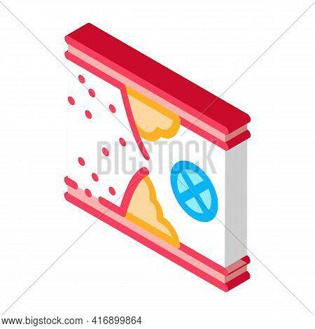 Blockage Of Blood Vessel Color Icon Vector. Isometric Blockage Of Blood Vessel Sign. Color Isolated