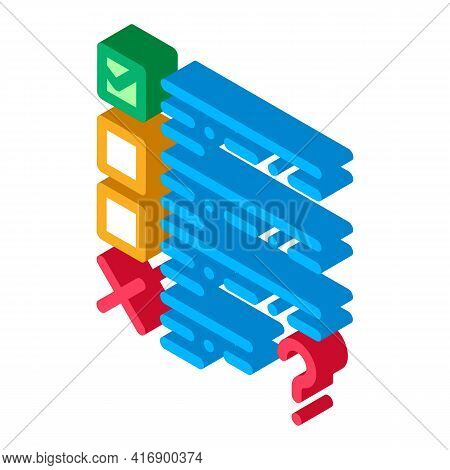 Fail Task Of Audit Color Icon Vector. Isometric Fail Task Of Audit Sign. Color Isolated Symbol Illus