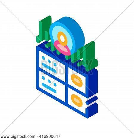 Server Storage Identity Color Icon Vector. Isometric Server Storage Identity Sign. Color Isolated Sy