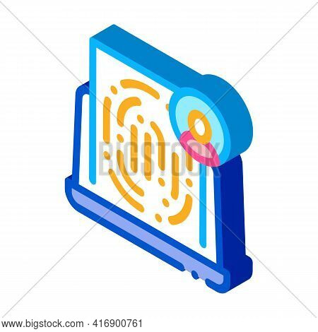 Finger Identity Color Icon Vector. Isometric Finger Identity Sign. Color Isolated Symbol Illustratio