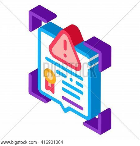 False License Color Icon Vector. Isometric False License Sign. Color Isolated Symbol Illustration