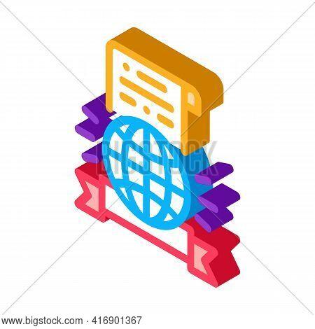 International License Color Icon Vector. Isometric International License Sign. Color Isolated Symbol
