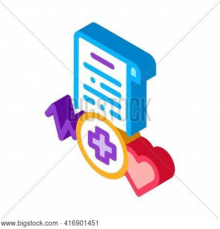 Medical License Color Icon Vector. Isometric Medical License Sign. Color Isolated Symbol Illustratio