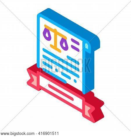 Legal Activity License Color Icon Vector. Isometric Legal Activity License Sign. Color Isolated Symb
