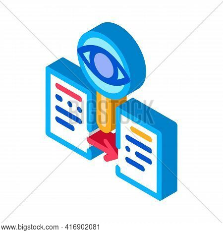 Conformity Of Document Policy Color Icon Vector. Isometric Conformity Of Document Policy Sign. Color