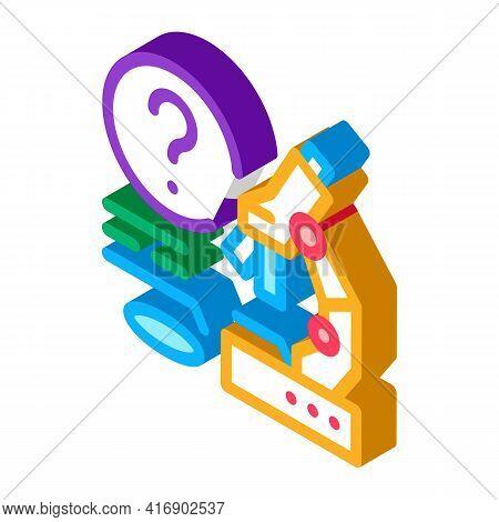 Laboratory Researcher Color Icon Vector. Isometric Laboratory Researcher Sign. Color Isolated Symbol