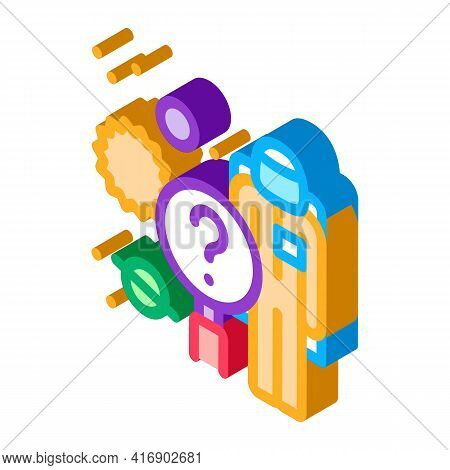 Space Researcher Color Icon Vector. Isometric Space Researcher Sign. Color Isolated Symbol Illustrat