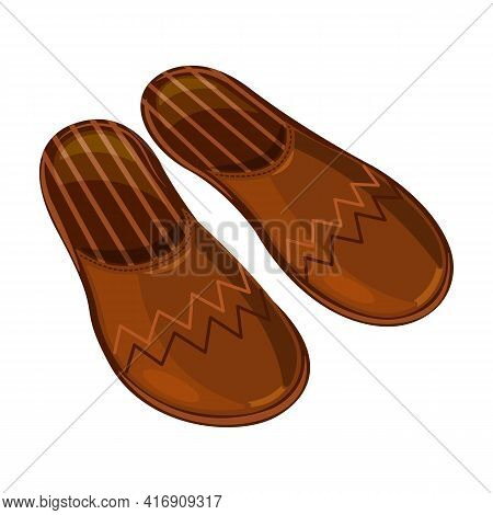 Slippers Vector Icon.cartoon Vector Icon Isolated On White Background Slippers.