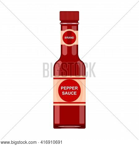 Sauce Chili Vector Icon.cartoon Vector Icon Isolated On White Background Sauce Chili.