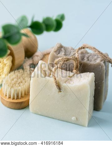 Natural Spa Set For Face And Body Bath Exfoliate With Natural Handmade Brown Rice And White Vanilla