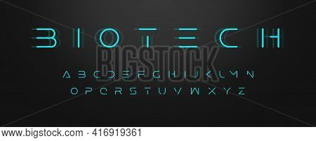 Futuristic Letters, Ultra Slim Font, Contemporary Type For Gui And Hud, Thin Sleek Typography For In