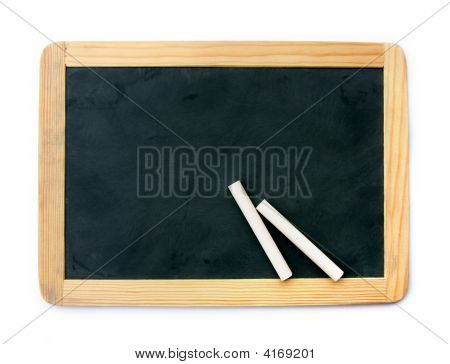 Blackboard And Chalks