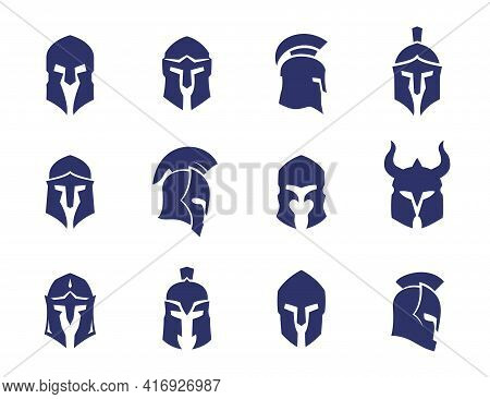 Helmets Set, Spartan, Greek And Roman, Gladiator