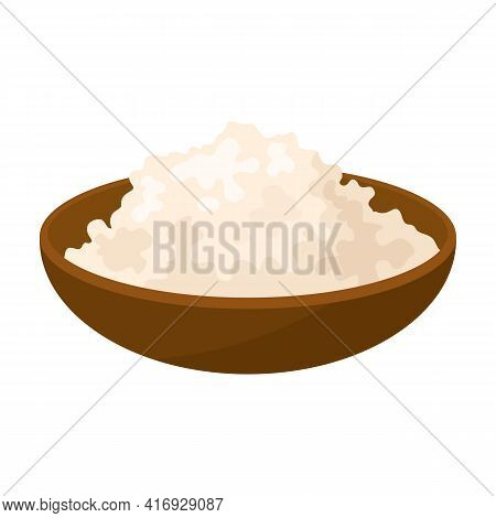 Cottage Cheese Vector Icon.cartoon Vector Icon Isolated On White Background Cottage Cheese.