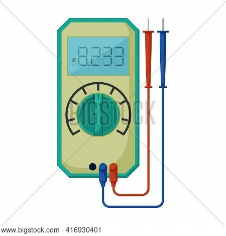 Multimeter Vector Icon.cartoon Vector Icon Isolated On White Background Multimeter.