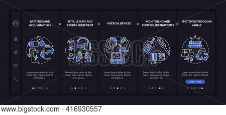 E-trash Classification Onboarding Vector Template. Responsive Mobile Website With Icons. Web Page Wa