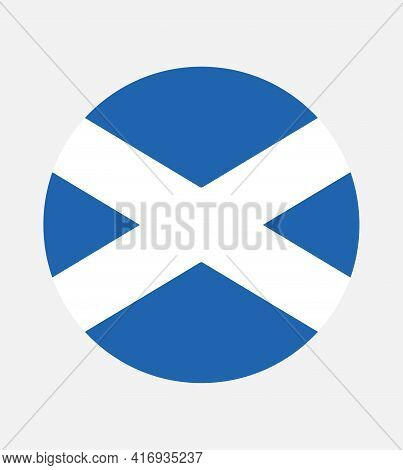 National Scotland Flag, Official Colors And Proportion Correctly. National Scotland Flag. Vector Ill