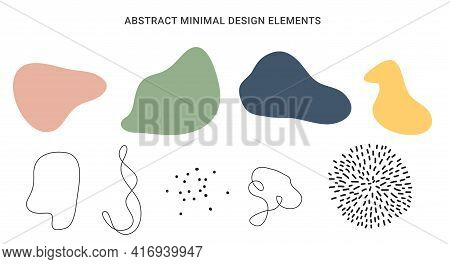 Abstract Minimal Design Element Collection Set. Vector Illustration