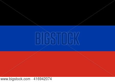 Official Large Flat Flag Of Donetsk People's Republic Horizontal