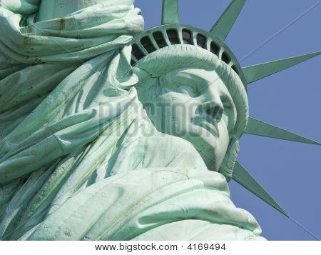 New York Statue Of Liberty Super Close Up