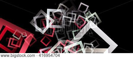 Fantastic Abstract Panorama Design With Square Objects