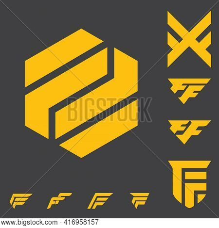 Double F Letter Based Logo Stock, Bold, Simple Modern And Clean. Can Be Used As Streaming Channel, S